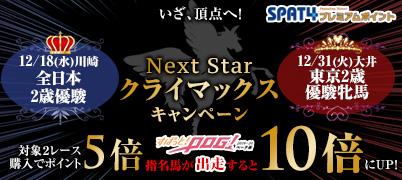 【特典】南関東2歳頂上決戦を購入でポイント最大10倍!