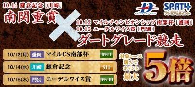 南関重賞(川崎)×DG競走(盛岡・門別)キャンペーン