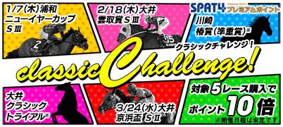 クラシックチャレンジキャンペーン【特典】目指せクラシック!3歳戦を購入でポイント最大10倍!
