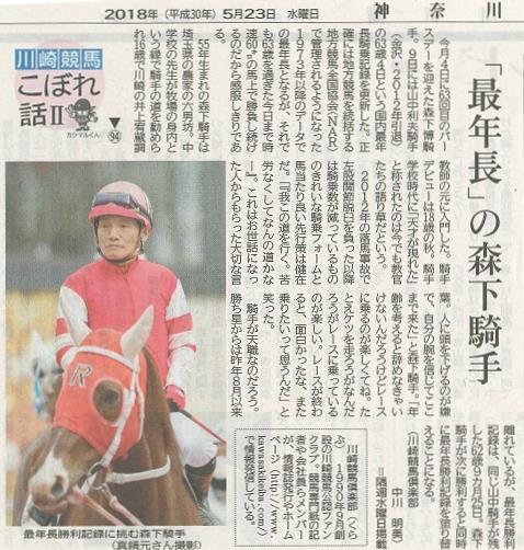 神奈川新聞川崎版 川崎競馬こぼれ話Ⅱ 第94話