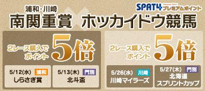 南関重賞(浦和・川崎)×ホッカイドウ競馬(北斗盃・北海道SC)キャンペーン