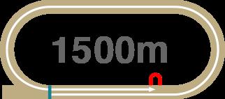 1500m